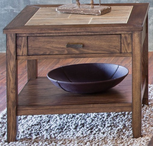 Mesa Valley Tobacco End Table