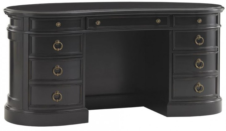 Breckenridge Weathered Black Telluride Kidney Desk