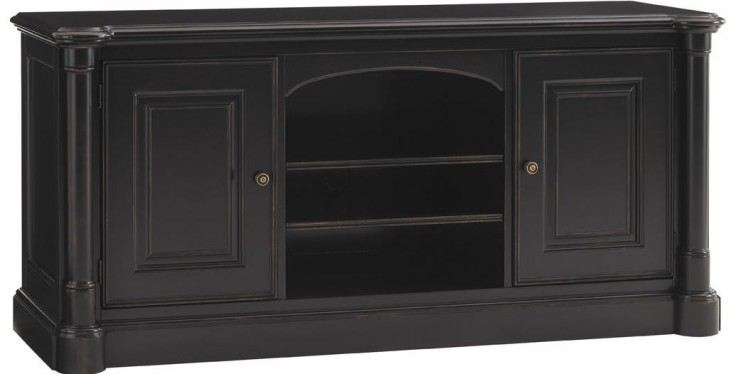 Broadmoor Weathered Black Summit Small TV Console