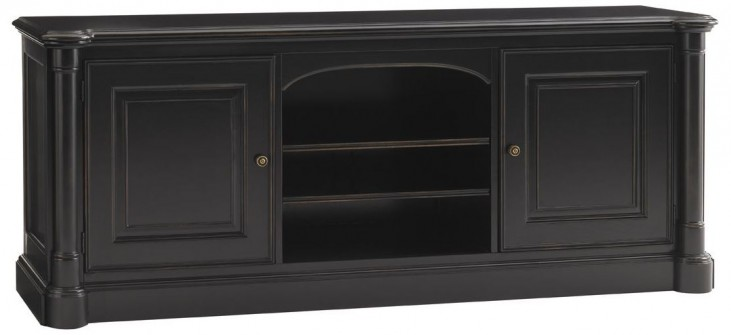 Broadmoor Weathered Black Silverthorne Large TV Console