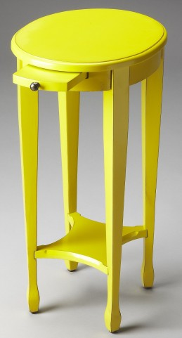 Arielle Loft Yellow Round Accent Table