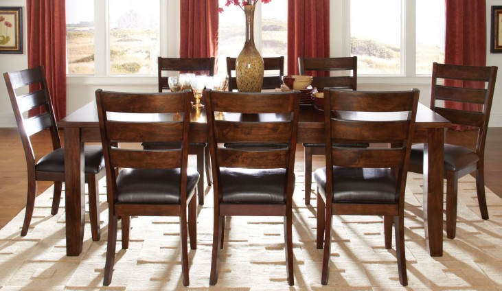 Abaco Warm Dark Tobacco Rectangular Extendable Dining Room Set