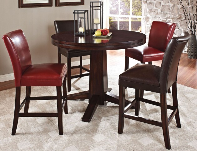 Hartford Round Pedestal Counter Height Dining Room Set