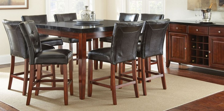 Granite Bello Square Counter Height Dining Room Set