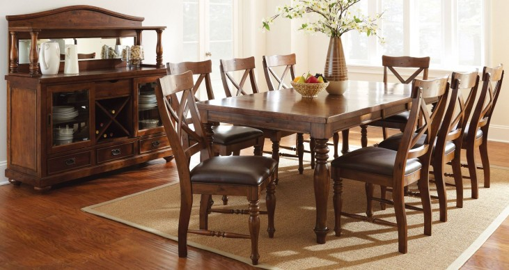 Wyndham Medium Cherry Extendable Rectangular Dining Room Set