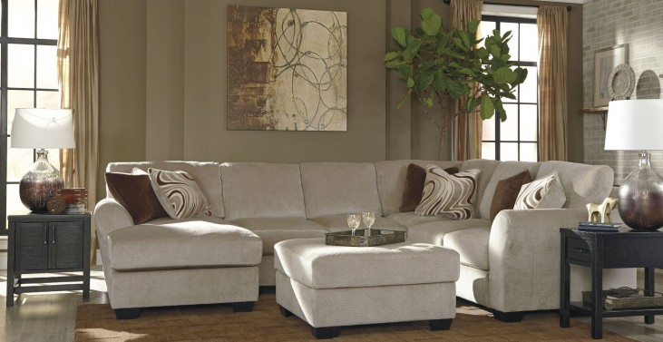 Hazes Fleece LAF Loveseat Sectional