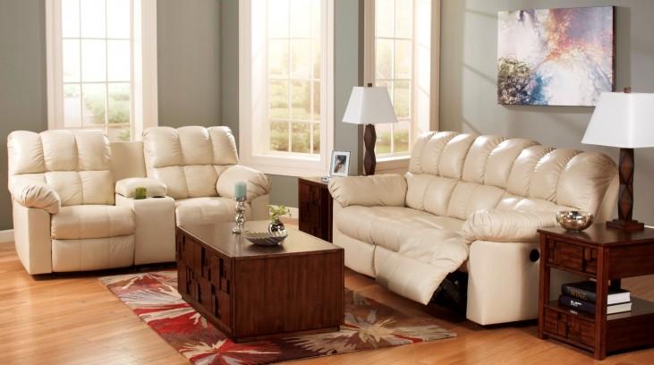 Kennard Cream Reclining Living Room Set