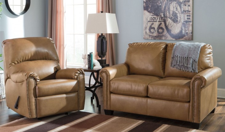Lottie DuraBlend Almond Living Room Set