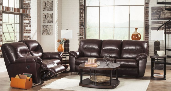 Kilzer Durablend Mahogany Reclining Living Room Set