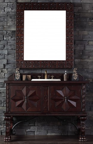 "Balmoral 48"" Antique Walnut Single Vanity With 4Cm Santa Cecilia Granite Top"