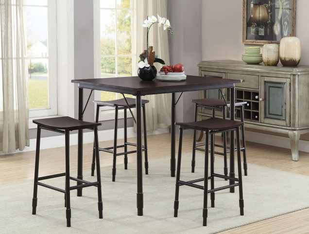 Black 5 Piece Dining Set