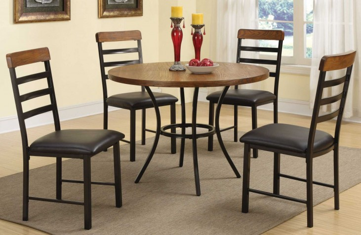Noah 5 Pieces Round Dining Table Set