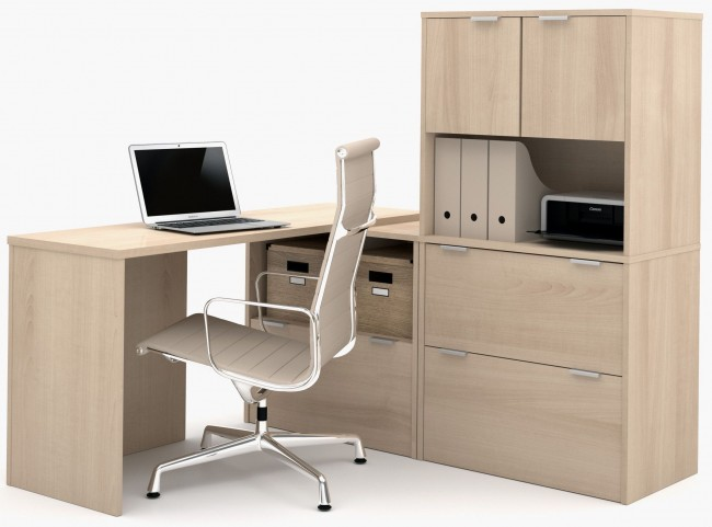 150853-38 i3 Northern Maple L-Shaped desk