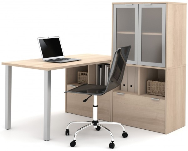 150855-38 i3 Northern Maple L-Shaped desk