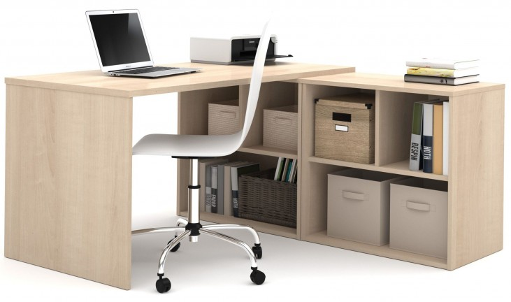 150869-38 i3 Northern Maple L-Shaped desk