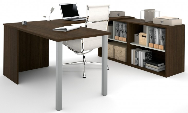 150871-78 i3 Tuxedo and Sandstone U-Shaped desk