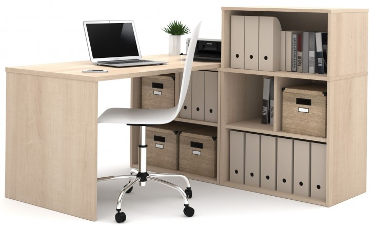 150875-38 i3 Northern Maple L-Shaped desk