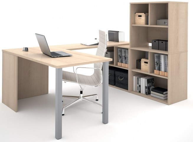 150878-38 i3 Northern Maple U-Shaped desk