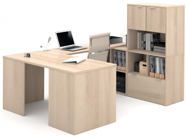 150879-38 i3 Northern Maple U-Shaped desk