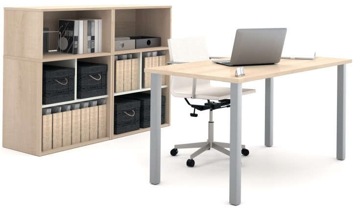 i3 Northern Maple and Sandstone Executive Set with Storage Units