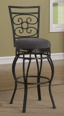 "Scroll Back 30"" Metal Frame Stool"