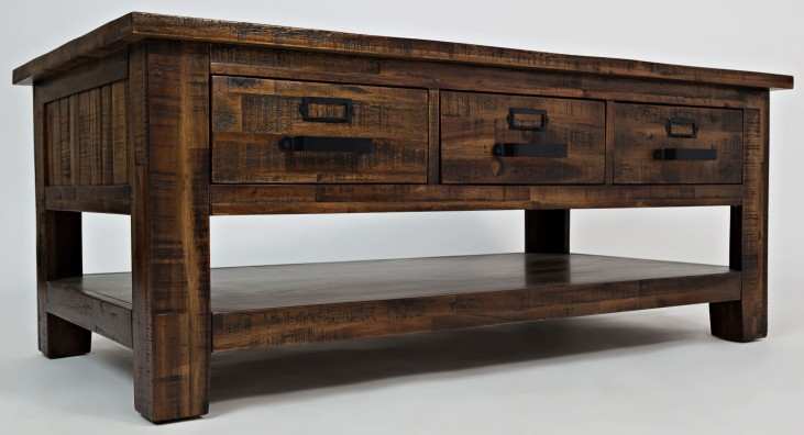 Cannon Valley 3 Drawer Cocktail Table