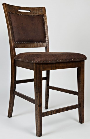 Cannon Valley Upholstered Back Counter Stool Set of 2