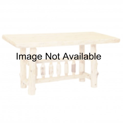 "Cedar 60"" Rectangular Counter Height Liquid Glass Log Dining Table"