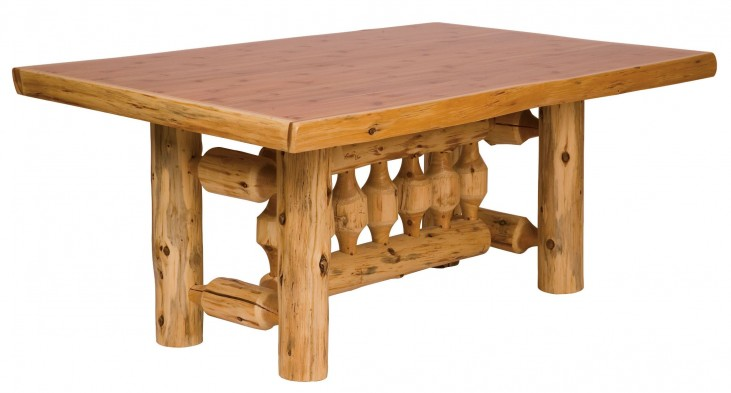 "Cedar 60"" Rectangular Standard Log Dining Table"
