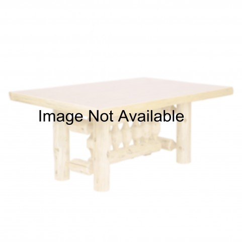 "Cedar 60"" Rectangular Armor Log Dining Table"