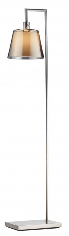 Prescott Satin Steel Floor Lamp