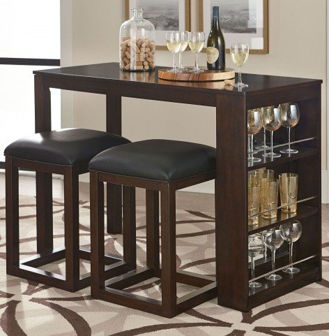 Porter Rich Dark Brown Counter Height Dining Room Set