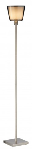 Prescott Satin Steel Tall Floor Lamp