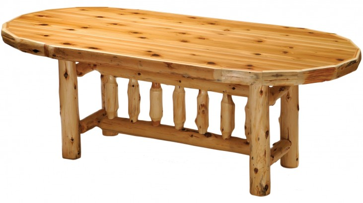 "Cedar 96"" Oval Standard Dining Table"