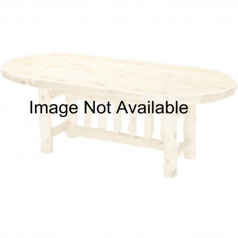 "Cedar 84"" Oval Counter Height Dining Armor Table"