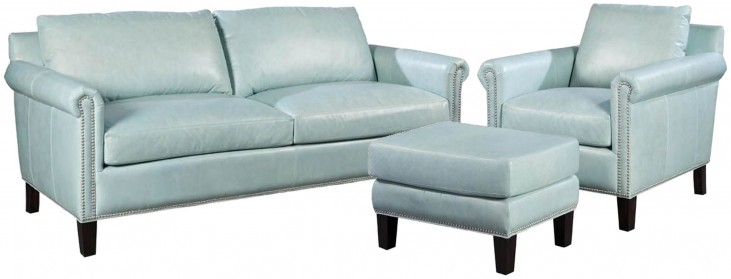 Belle Weston Blue Ice Living Room Set
