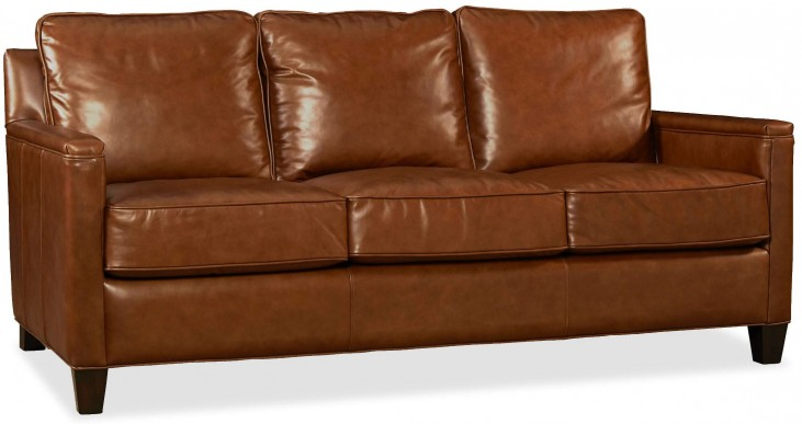 Alexander Berkshire Maple Leather Sofa