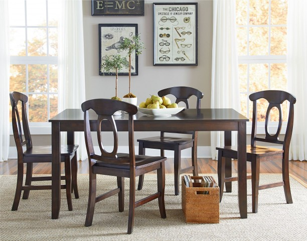 Larkin Antique Cherry 5 Piece Dining Room Set