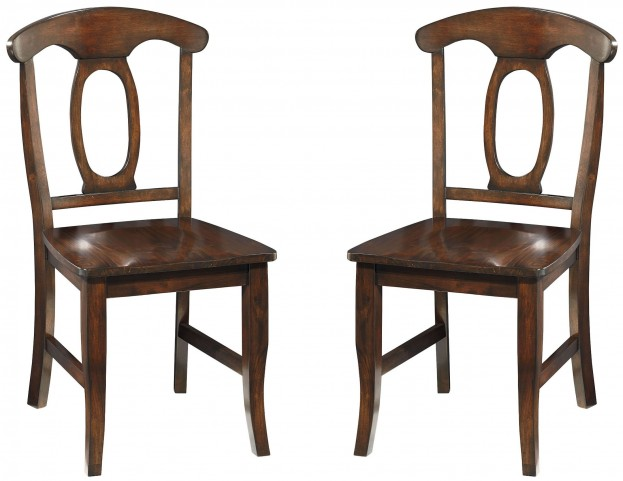 Larkin Antique Cherry Side Chair Set of 2