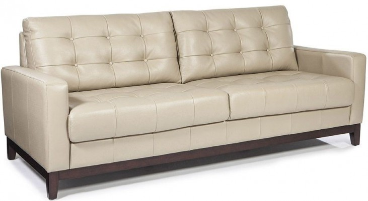 Clayton Taupe Leather Sofa