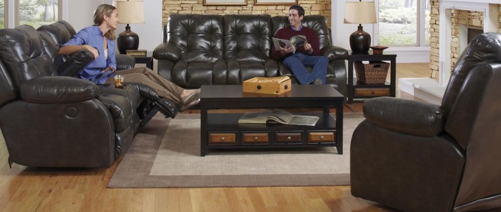 Watson Coal Reclining Living Room Set