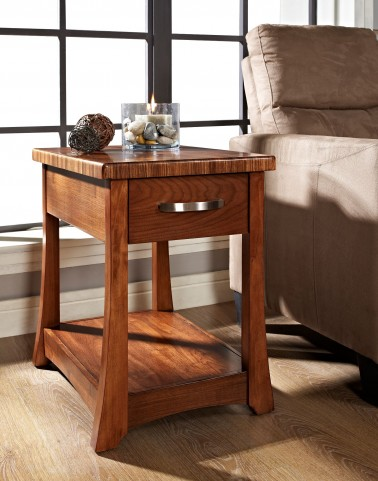 Milan Medium Brown Stain Chair Side Table