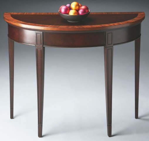 Masterpiece Cherry Nouveau Demilune Console Table