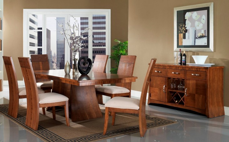 Milan Rectangular Pedestal Dining Room Set