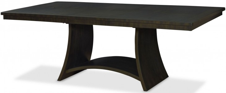 Novara Charcoal Serra Extendable Rectangular Dining Table
