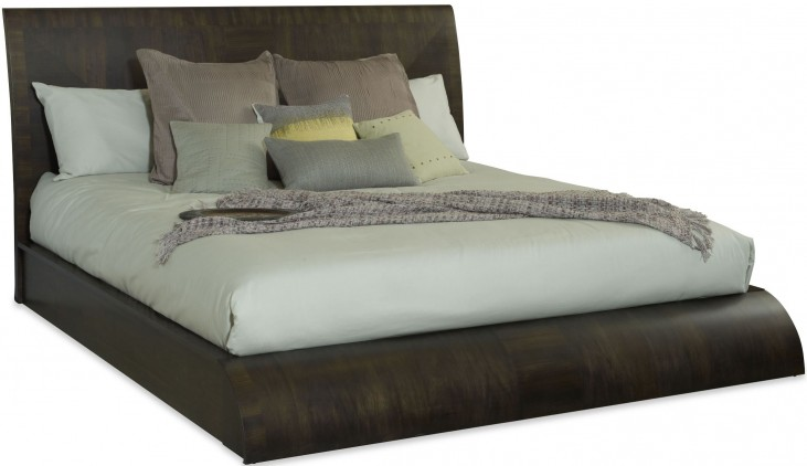 Novara Charcoal Tasca Queen Platform Bed