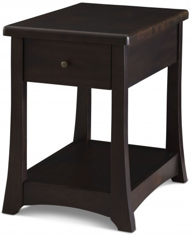 Novara Charcoal Boca Chairside Table