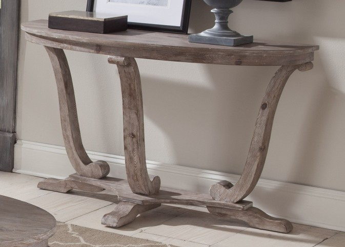 Greystone Mill Stone White Wash Sofa Table