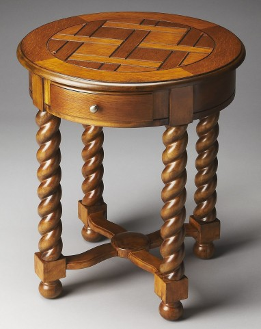 Masterpiece Brockton Vintage Oak Round Accent Table