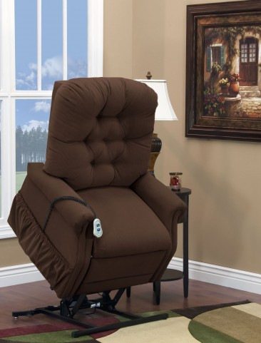 Aaron Cocoa Wide Petite Three Way Reclining Lift Chair